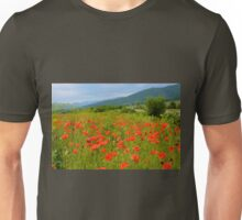 Field of Red Poppy Flowers Unisex T-Shirt