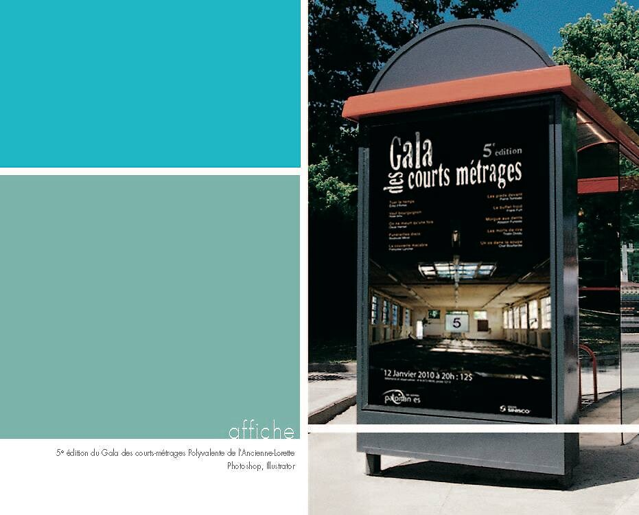Affiche Gala courts métrages by mtibo