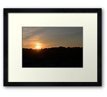 Founders Day Sunset Framed Print