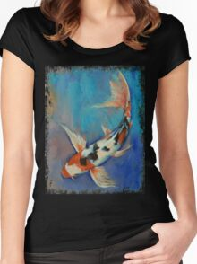 Sanke Butterfly Koi Women's Fitted Scoop T-Shirt