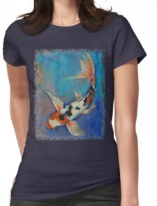 Sanke Butterfly Koi Womens Fitted T-Shirt