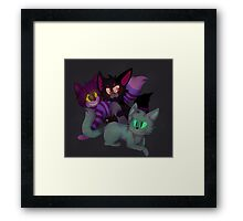 Two or Three Cheshires Framed Print