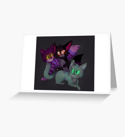Two or Three Cheshires Greeting Card
