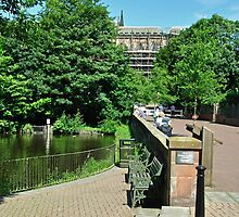 Minster Pool and Dam Street, Lichfield by Rod Johnson