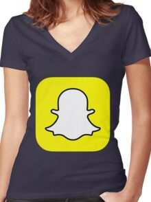 SNAP Women's Fitted V-Neck T-Shirt
