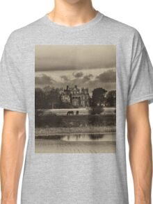 Seaton Delaval Hall in antiqued sepia Classic T-Shirt