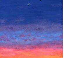 Day To Night Moonlit Sunset by M Rogers