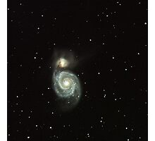 The Whirlpool Galaxy, M51 in Canes Venatici Photographic Print