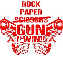Rock, Paper, Scissors, Gun, I Win T Shirts, Stickers and Other Gifts Monty Python's by zandosfactry