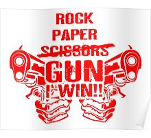 Rock, Paper, Scissors, Gun, I Win T Shirts, Stickers and Other Gifts Monty Python's Poster