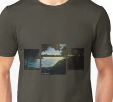 Autumn at the Duck Pond - Tryptich Unisex T-Shirt