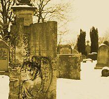 Angel on a gravestone by krisphotoart