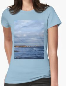Northumbrian seascape Womens Fitted T-Shirt