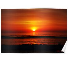 Red Sun in Morning Poster