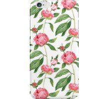 Romantic watercolor Peonies,  botanical illustration.  iPhone Case/Skin