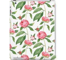 Romantic watercolor Peonies,  botanical illustration.  iPad Case/Skin