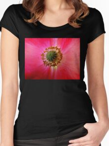 Heart of a Red Poppy Women's Fitted Scoop T-Shirt