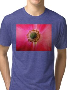 Heart of a Red Poppy Tri-blend T-Shirt