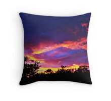 fiery sky Throw Pillow