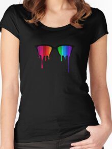Love Wins! Rainbow - Spectrum (Pride) / Hipster Nerd Glasses Women's Fitted Scoop T-Shirt