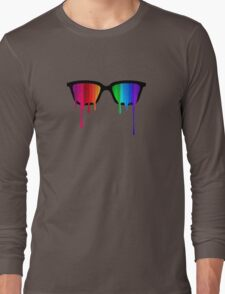 Love Wins! Rainbow - Spectrum (Pride) / Hipster Nerd Glasses Long Sleeve T-Shirt