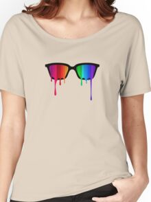 Love Wins! Rainbow - Spectrum (Pride) / Hipster Nerd Glasses Women's Relaxed Fit T-Shirt