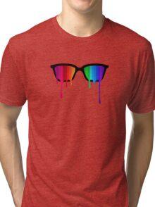 Love Wins! Rainbow - Spectrum (Pride) / Hipster Nerd Glasses Tri-blend T-Shirt