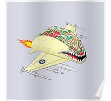 Taco Fighter Jet Poster