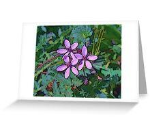 Colorful Petals Greeting Card
