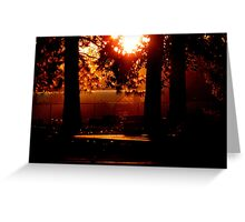 Silhouetted Memories Greeting Card