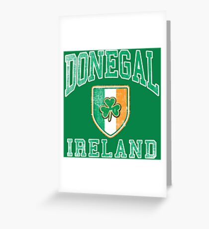 Donegal, Ireland with Shamrock Greeting Card