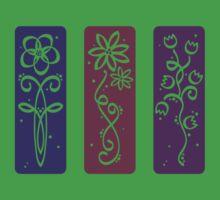 flower panels, colour silhouette Kids Tee