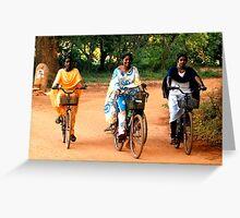 Saraied Cyclists Greeting Card