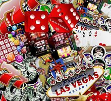 Gamblers Delight - Las Vegas Icons Background by Gravityx9