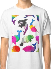 Sexuality Whales (And Aromanatee) Pattern Classic T-Shirt