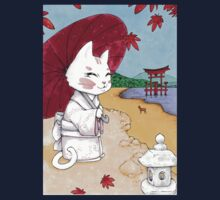 Geisha cat from Miyajima Kids Tee