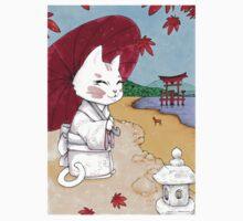 Geisha cat from Miyajima Kids Clothes