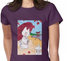 Geisha cat from Miyajima Womens Fitted T-Shirt