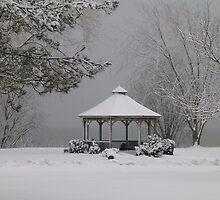 Gazebo in Winter by artgoddess