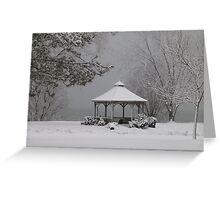 Gazebo in Winter Greeting Card