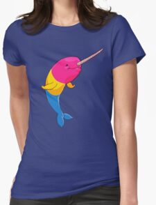 Pansexuwhale - no text Womens Fitted T-Shirt