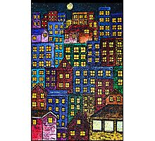 City Lights By Night Photographic Print