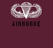 US airborne parawings white over black T-Shirt