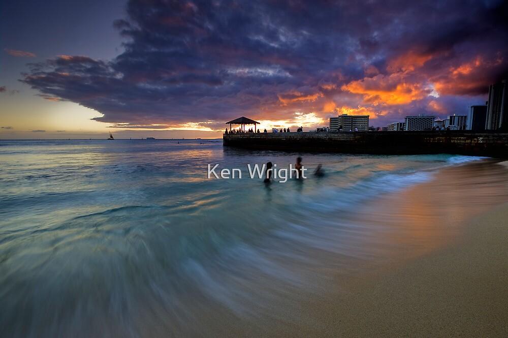 Basking in glowing embers by Ken Wright