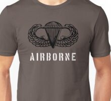 US airborne parawings black over white Unisex T-Shirt
