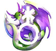 Genderqueer Pride Dragon by kaenith