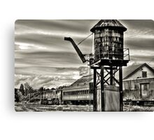Old rail road station Canvas Print