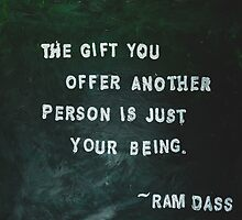 Painted Quote featuring Ram Dass by SealightArt
