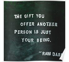 Painted Quote featuring Ram Dass Poster