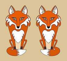 TWO FOXES by Jean Gregory  Evans
